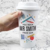 Personalised Teachers Insulated Reusable Eco Travel Cup / Mug - ideal for Christmas or an end of the school year 'Thank You'